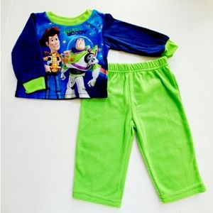 NWT Disney Toy Story Soft Flannel Pajama Sleep Set